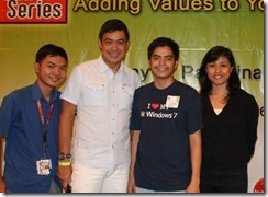 Photo op with Mr. Anthony together with CBS Members Angeli, Ate Wil and Kuya Iggy!
