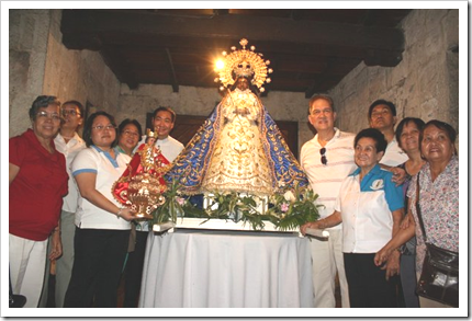 The Our Lady of Peace and Good Voyage arrived at the Casa Gorordo