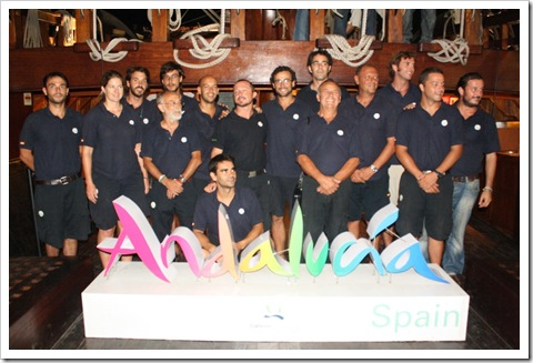 The whole Galleon Andalucia crew and the captain