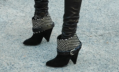 BRAND NEW ISABEL MARANT STUDDED BOOTS TO THE LANVIN SHOW