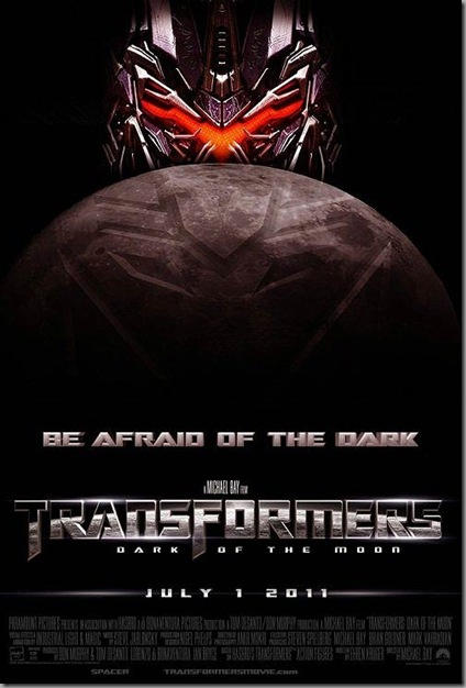 transformers 3 : dark of the moon movie poster