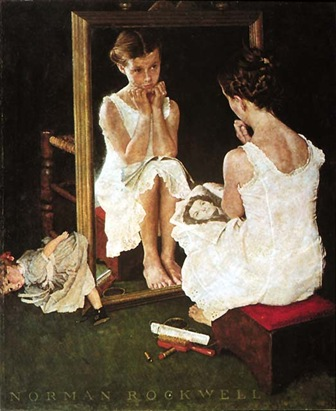 Norman Rockwell Girl at the Mirror