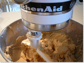 Mixing the cookie dough
