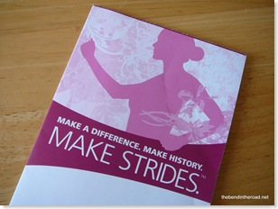 The Making Strides Cancer Walk brochure