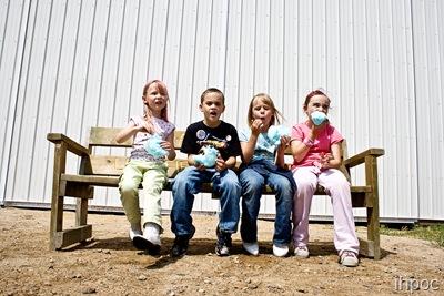 kids in a pattern