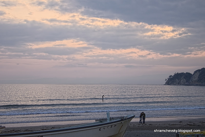 Japan Kamakura Beach Surfing Япония Камакура Пляж Сёрфинг