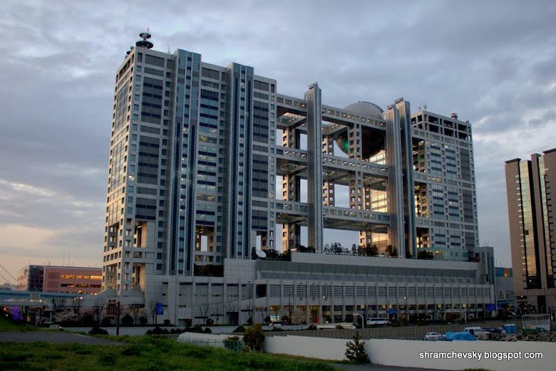 Japan Tokyo Odaiba Fuji TV Office Building Япония Токио Одайба Фуджи ТВ Телевидение Офис Здание