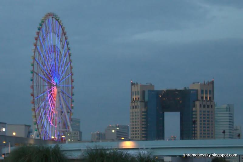 Japan Tokyo Odaiba Ferris Wheel Япония Токио Одайба Колесо Обозрения