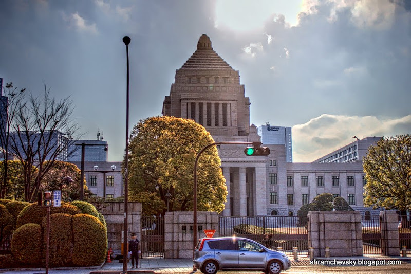 Japan Tokyo Diet House Parliament Chiyoda Япония Токио Парламент Здание Шийода