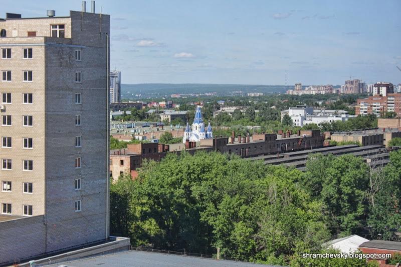 Самара Вид Скала Холл Волга Ладья Церквушка