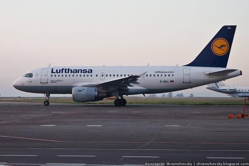 Lufthansa Люфтганза D-AILL Airbus A319-100 Курумоч Самара Аэропорт