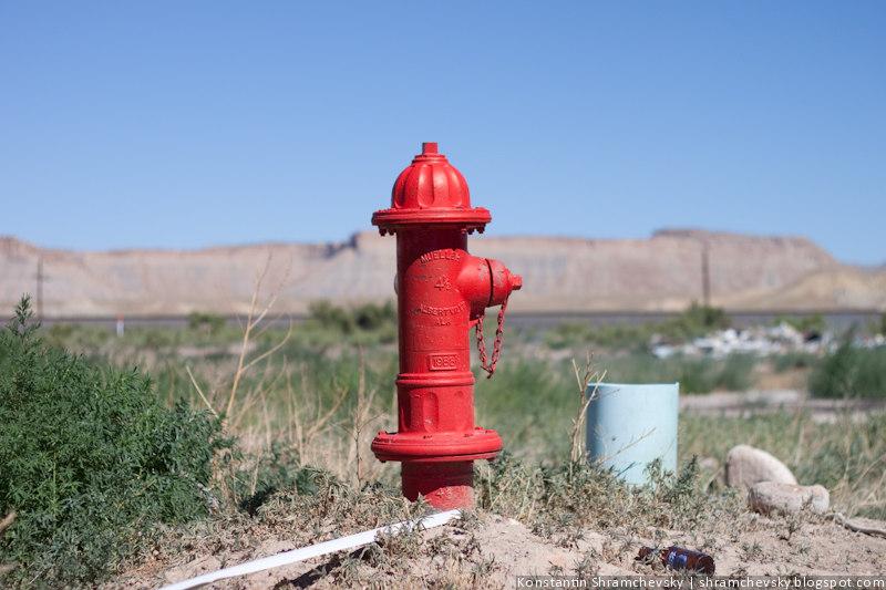 США Америка Красный Пожарный Гидрант