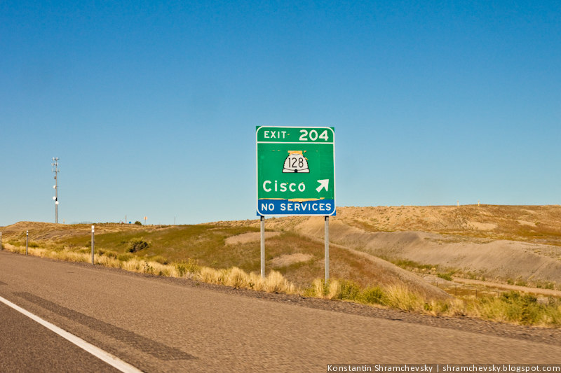 Cisco город циско знак дорожный америка США