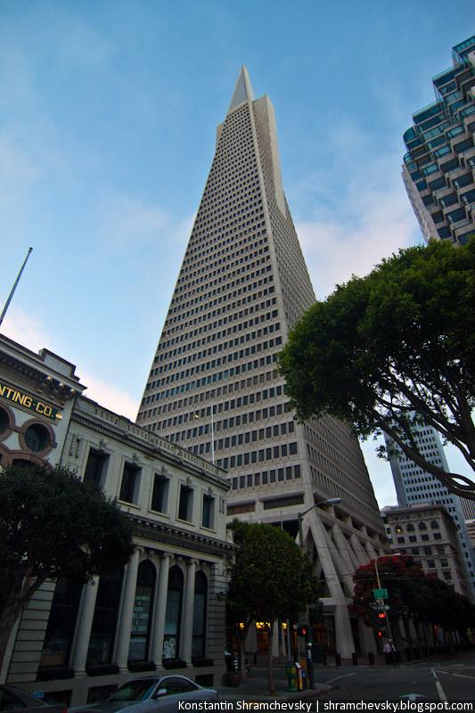 USA California San Francisco Transamerica Pyramid США Калифорния Сан Франциско Пирамида Трансамерика Небоскреб