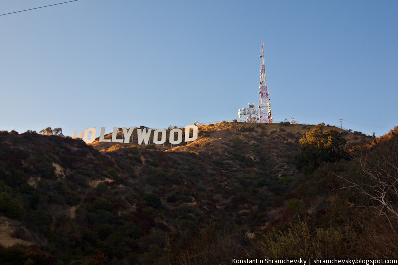 USA California Los Angeles Hollywood Sign США Калифорния Лос Анджелес Голливуд Знак