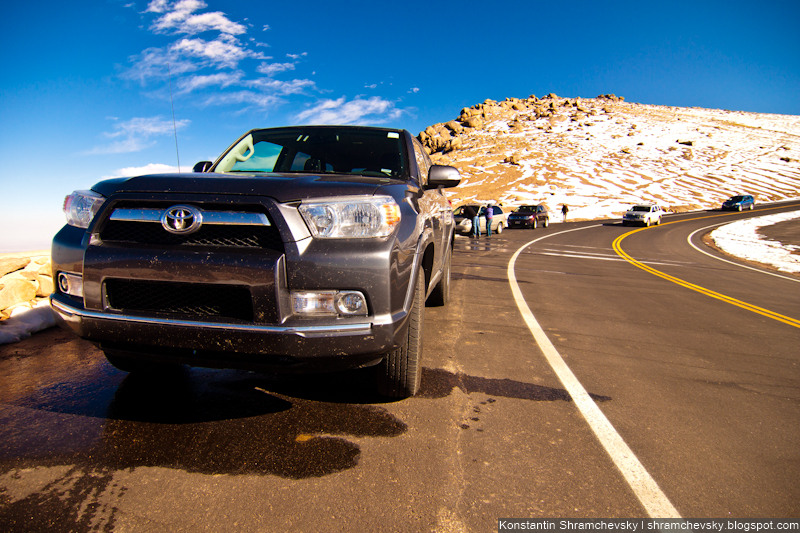 USA Colorado Rocky Mountains Pikes Peak США Колорадо Скалистые Горы Пайкс Пик 2011 Toyota 4Runner Тойота Фораннер