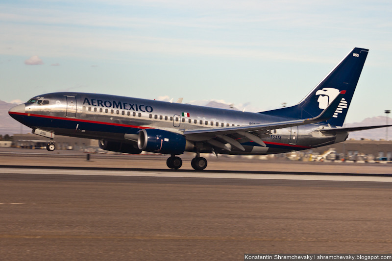 USA Nevada Las Vegas McCarran International Airport 737 Air Mexico США Невада Лас Вегас Международный Аэропорт МакКарран Boeing Боинг 737 Эйр Мексико