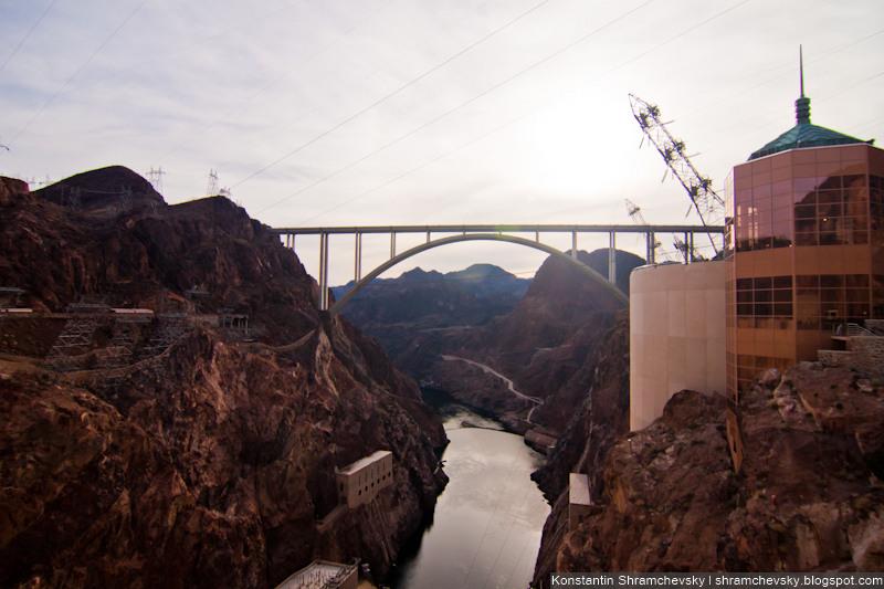 USA Nevada Las Vegas Hoover Dam Bridge США Невада Дамба Гувера Мост
