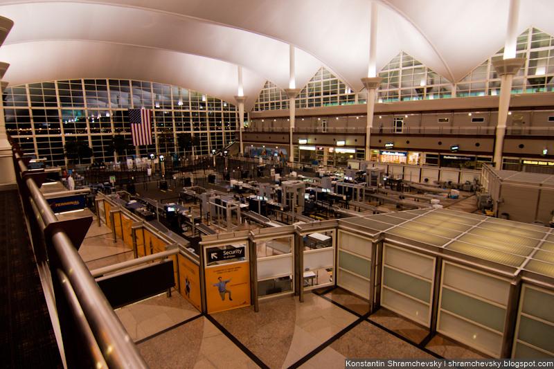 USA Colorado Denver International Airport Security Check США Колорадо Денвер Международный Аэропорт Контроль Безопасности