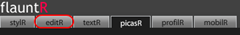 flauntR- Programa editr