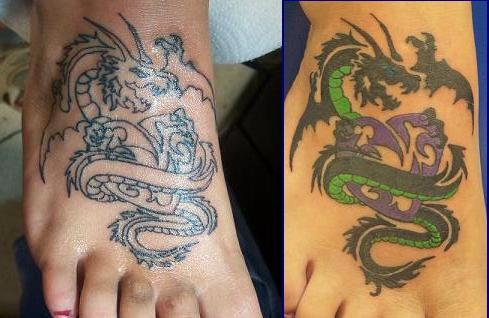 Foot Tattoos With Japanese Dragon Tattoo Picture 2