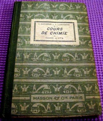 Cours de Chimie 1915 1
