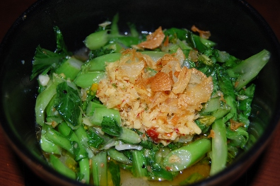 yu choy – ginger-soy glazed snap peas, chinese water spinach, enoki ...