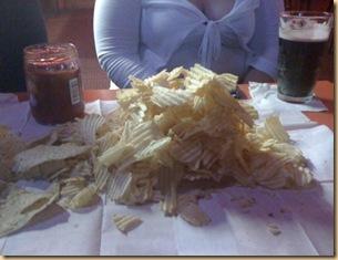 chip pile