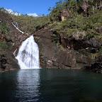 Wasserfall in der Zoe Bay auf Hichinbrook Island