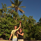 Erste Kokosnuss gefunden.