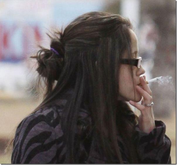 Garota louca fumando