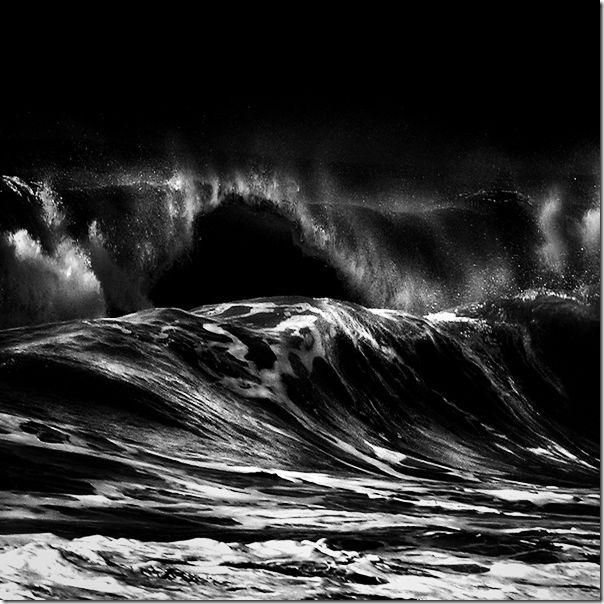 Fotografias em preto e branco do oceano (14)