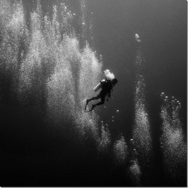 Fotografias em preto e branco do oceano (9)