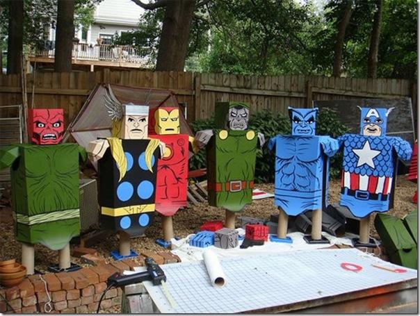 Trajes de Super-Heróis de papelão (5)