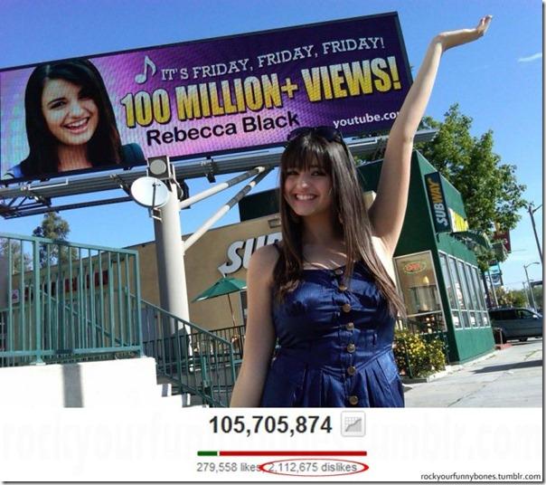 100 milhões de visualizações e não de fãs