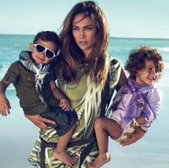 Jennifer Lopez Twins Gucci Ads