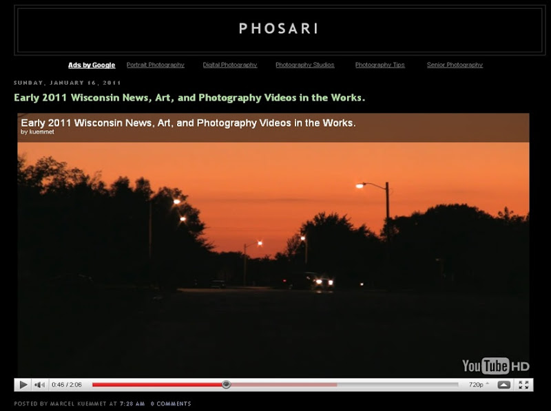 Phosari screen shot 2011 vids in works