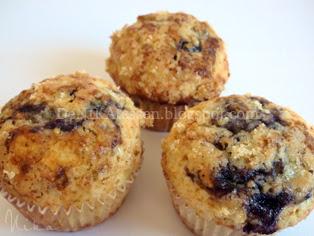 muffins de rapsodia de arándanos azules