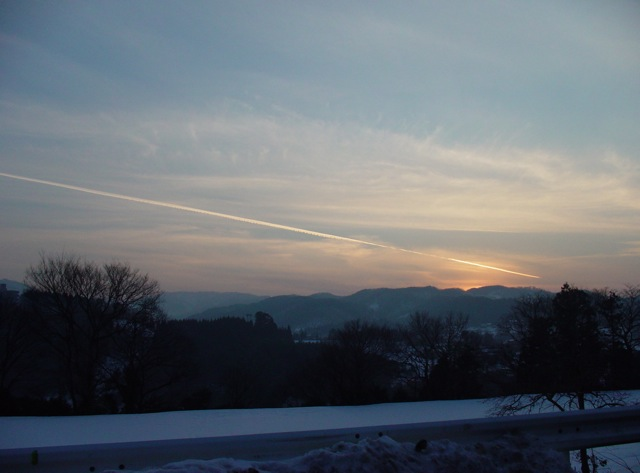 DSC-F77 冬の夕暮れ時