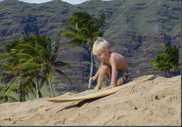 Jonas sand surfing