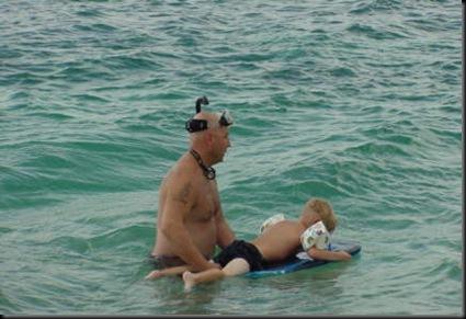 Jacob snorkeling