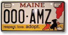 Maine licenseplate