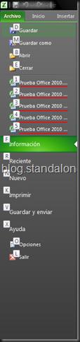 Acceso rapido Office 2010