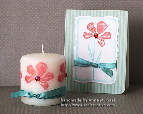 Stamped Candle & Card Set