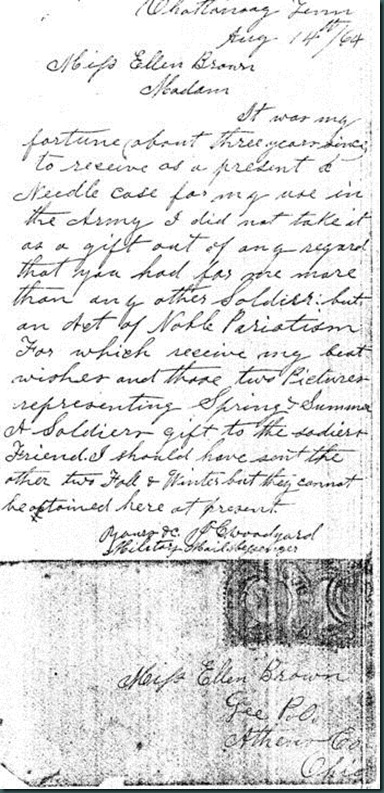 Copy of Letter from JC Woodyard to Ellen Brown thanking her for Sewing Kit_409x768