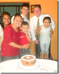 David and Elder Wardlow with the Retana family