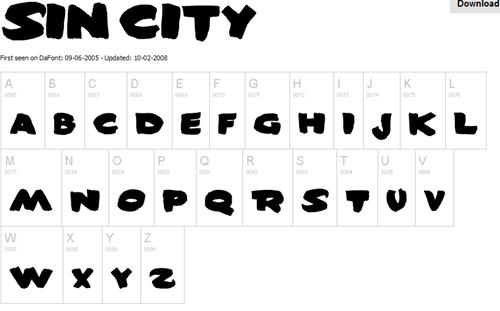 fontes_sincity