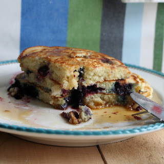 Blueberry Buttermilk Pancakes (printable recipe)