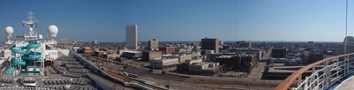 Galveston vista do piso 14 do Conquest