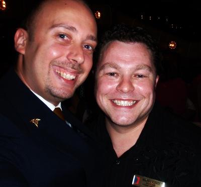 Com o Ralph, director do cruzeiro, o meu escocês favorito!